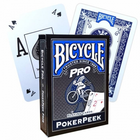 Bicycle Pro Poker Peek Blau